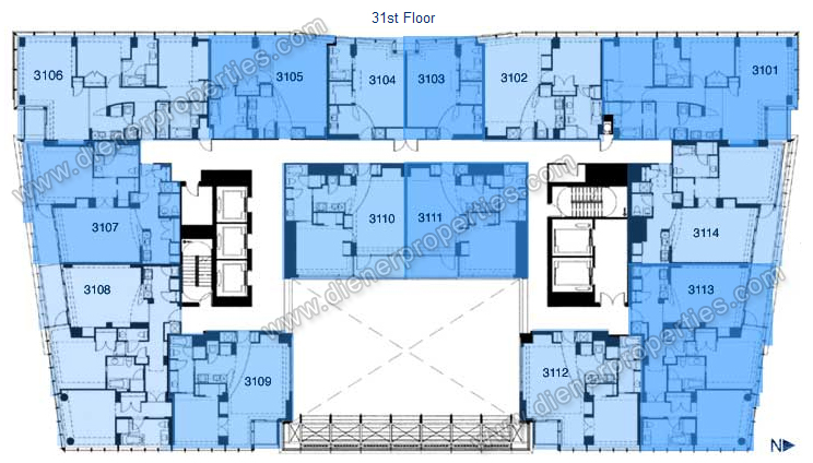 Conrad Espirito Santo Miami Condo Floor Plans